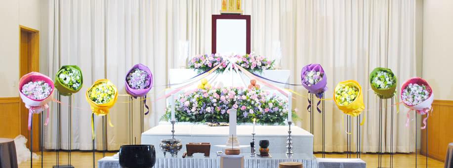 花祭壇で家族の絆を表現