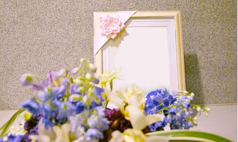 お母様がお好きな紫のお花