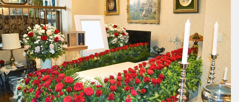 自宅バラ祭壇