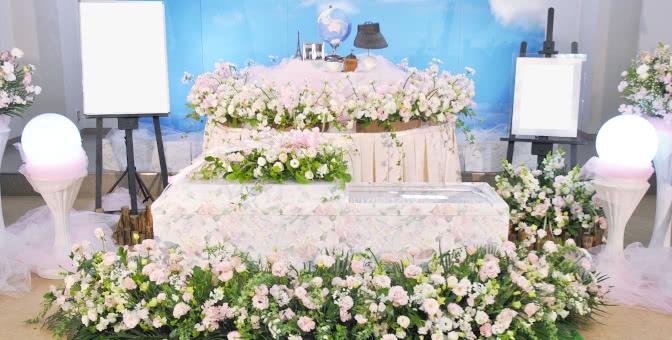ピンクのガーベラ祭壇