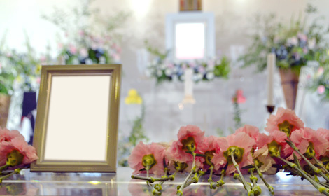 ピンクのお花を献花に