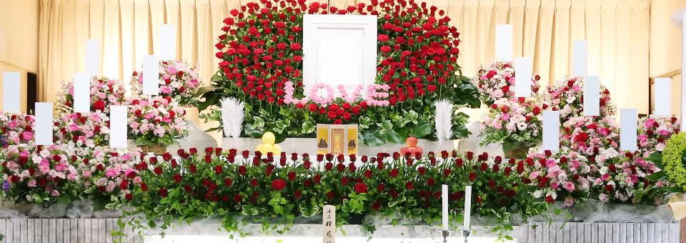 母への花祭壇