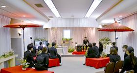 茶道をイメージした花祭壇